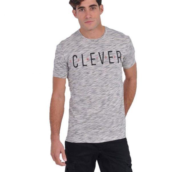 CLEVER CT-20630 Μπλουζάκι Ανδρικό Γκρί 3