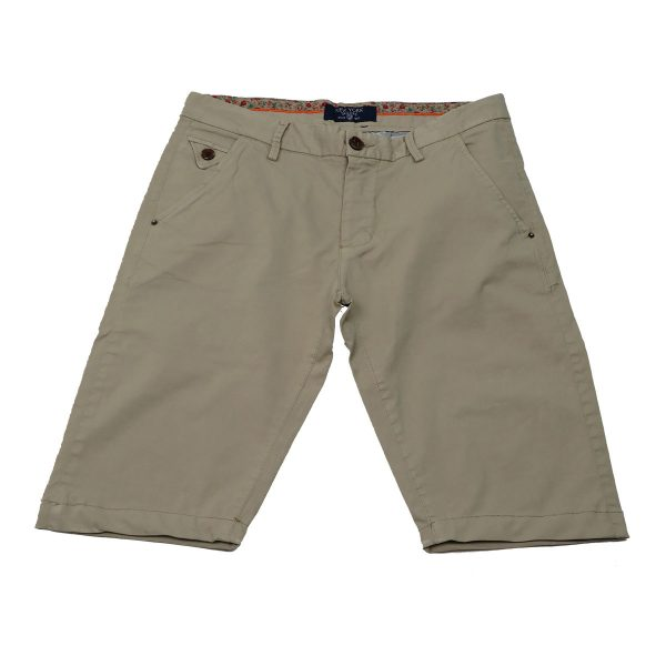 New York Tailors 004.15.GRANT 1 Ανδρική Βερμούδα Μπέζ 3