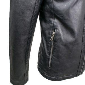 Inox Jackets 19692 Ανδρικό Μπουφάν Μαύρο Eco Leather 4