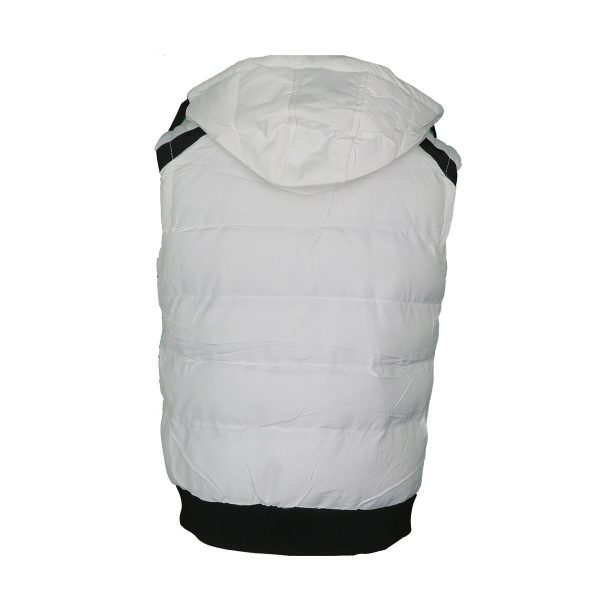 Privato AA11005-6 Ανδρικό Αμάνικο Μπουφάν Λευκό 4