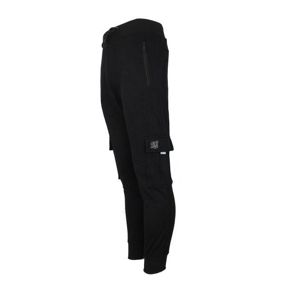 Privato FF-321 Ανδρικό Παντελόνι Φόρμας Φούτερ Μαύρο 3