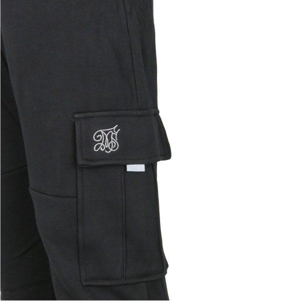 Privato FF-321 Ανδρικό Παντελόνι Φόρμας Φούτερ Μαύρο 4