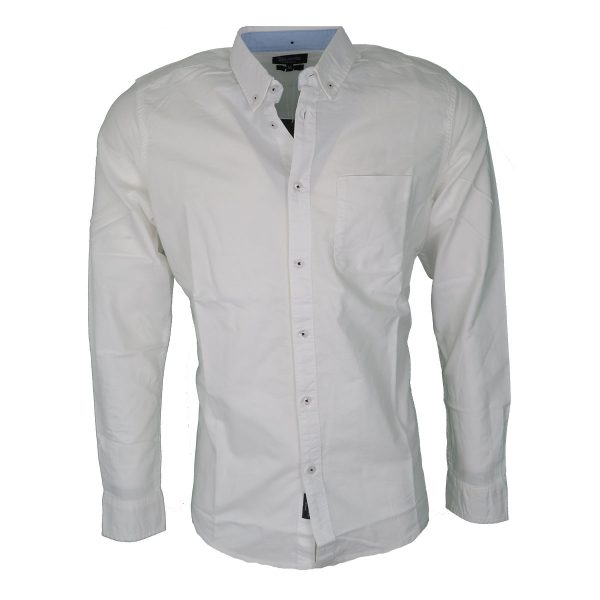 Tiffosi 10013483-001 Ανδρικό Πουκάμισο Λευκό 3