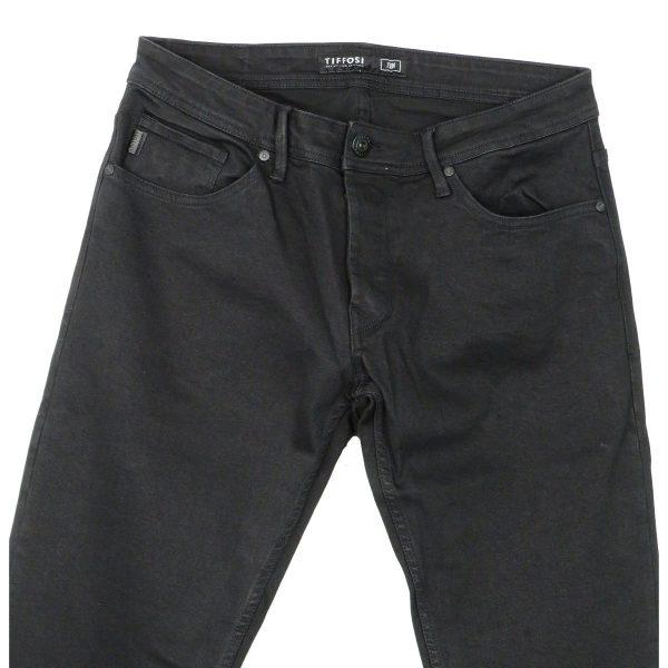 Tiffosi 10020615-900 Ανδρικό Παντελόνι Τζίν Μαύρο 4