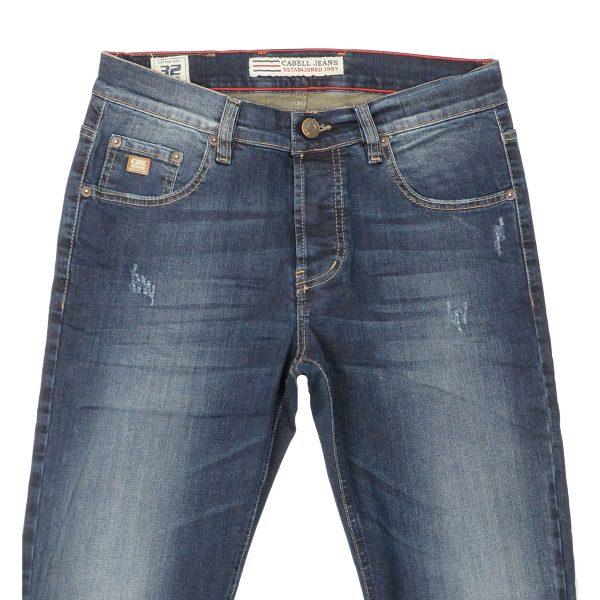 Cabell 1319-D Ανδρικό Παντελόνι Τζίν Μπλέ Big Size 7