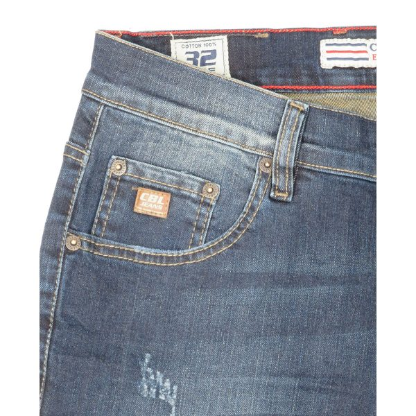 Cabell 1319-D Ανδρικό Παντελόνι Τζίν Μπλέ Big Size 6