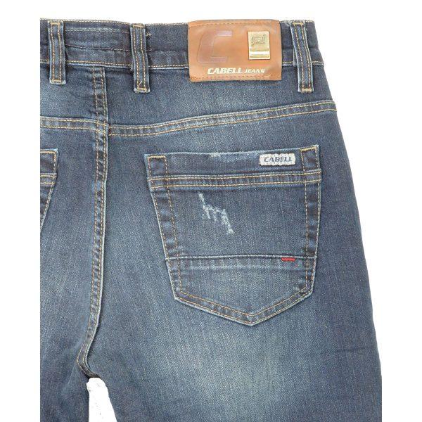 Cabell 1319-D Ανδρικό Παντελόνι Τζίν Μπλέ Big Size 4