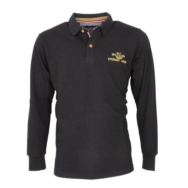 Everbest 211-033-0 Ανδρικό Μπλουζάκι Πόλο Μαύρο 3