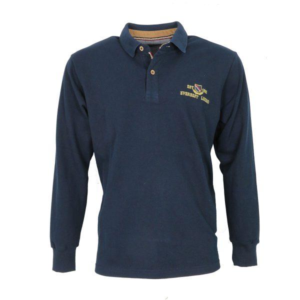 Everbest 211-033-0 Ανδρικό Μπλουζάκι Πόλο Μπλέ 3