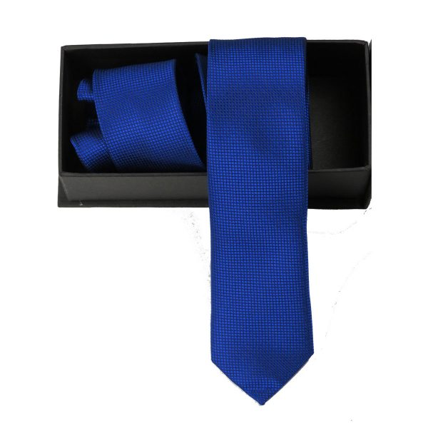 Privato Σ3 Ανδρική Γραβάτα Μπλέ Ρουά 3