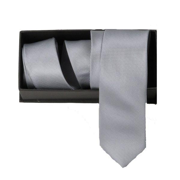 Privato Σ1 Aνδρική Γραβάτα Γκρί Ασημί 3