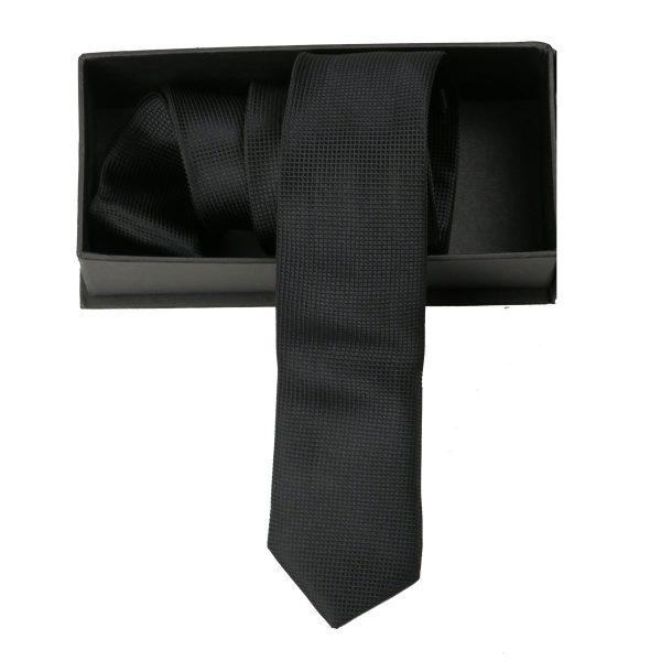 Privato Σ2 Ανδρική Γραβάτα Μαύρη 3