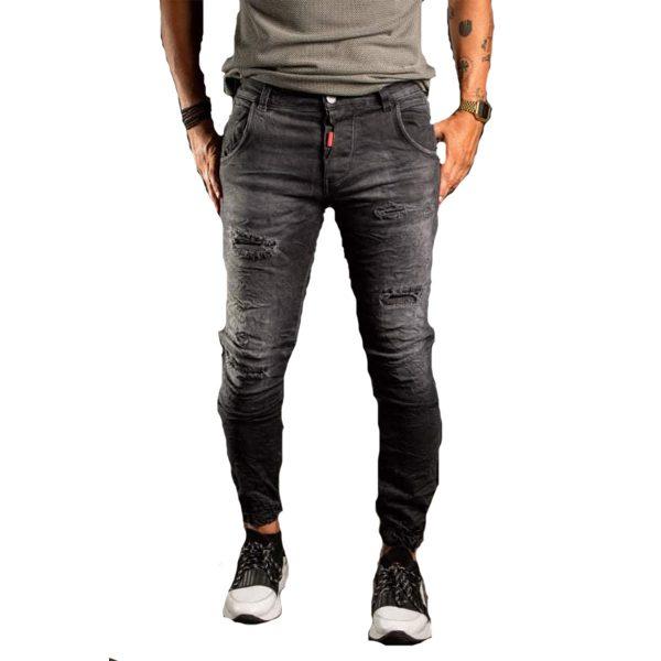 Profil 3010 Ανδρικό Τζίν Παντελόνι Μαύρο 3