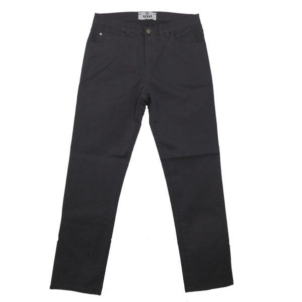 REVAL NADTHE-20 Ανδρικό Παντελόνι Καπαρντίνα Γκρί Σκούρο 3