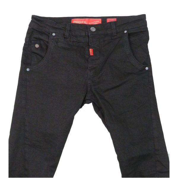 Profil 3002 Ανδρικό Παντελόνι Τζίν Μαύρο 4