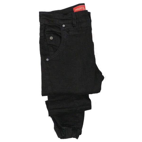 Profil 3002 Ανδρικό Παντελόνι Τζίν Μαύρο 7