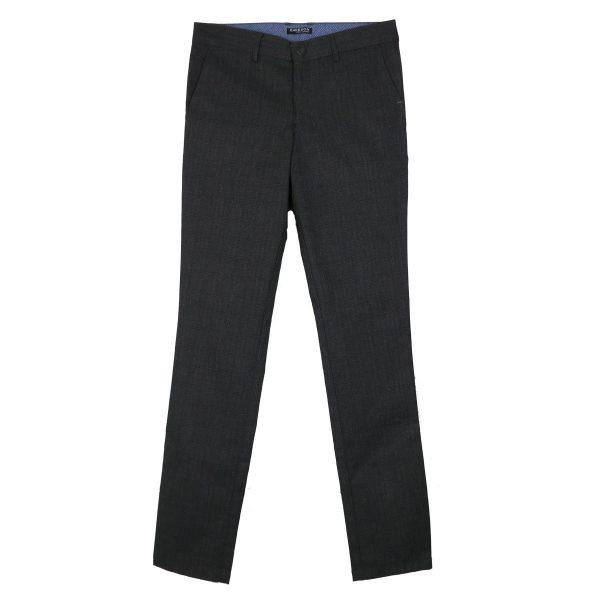 ENDESON 645 Ανδρικό Παντελόνι Καρώ Μαύρο 3