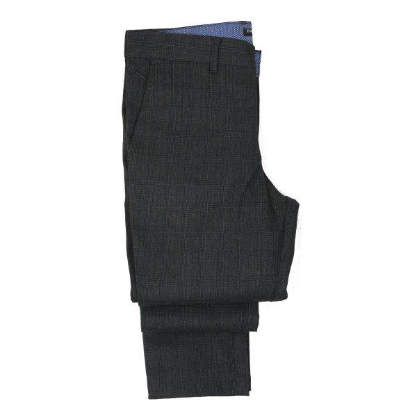 ENDESON 645 Ανδρικό Παντελόνι Καρώ Μαύρο 6