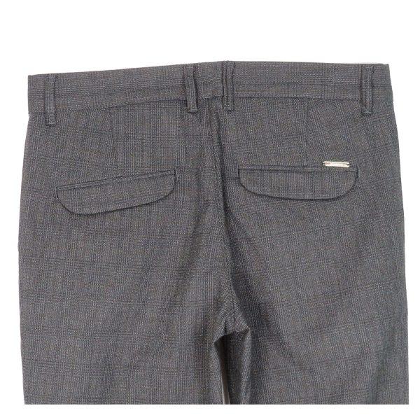 ENDESON 645 Ανδρικό Παντελόνι Καρώ Μαύρο 8