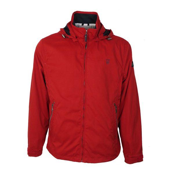 Inox Jackets 20102 Ανδρικό Μπουφάν Με Κουκούλα Κόκκινο 4