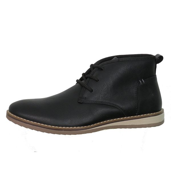 New York Tailors 034.18 ALPHA Ανδρικό Παπούτσι Μποτάκι Μαύροι 3