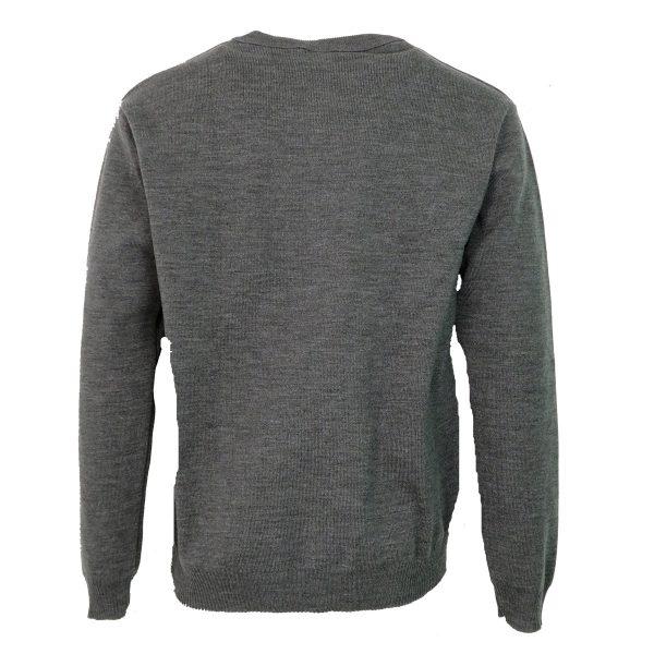 Privato 116 Ανδρική Πλεκτή Μπλούζα Γκρί 4