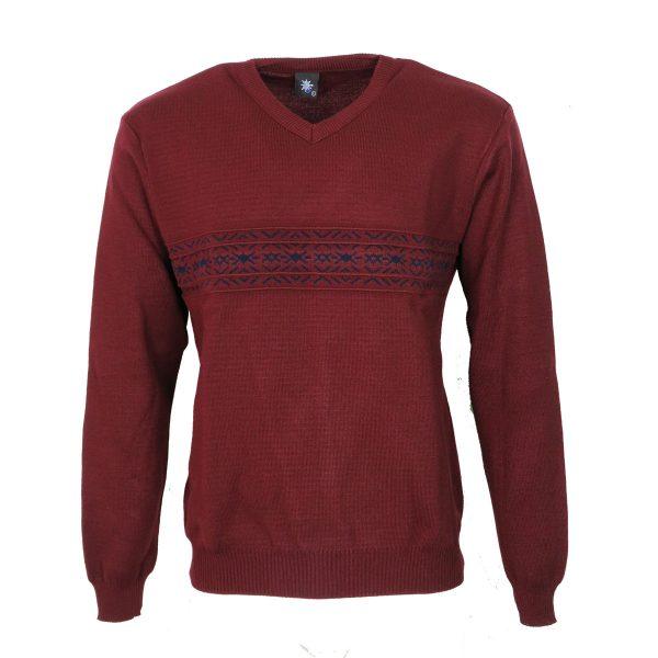 Privato 116 Ανδρική Πλεκτή Μπλούζα Μπορντό 3