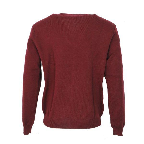 Privato 116 Ανδρική Πλεκτή Μπλούζα Μπορντό 4