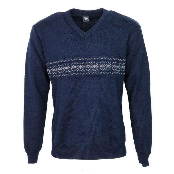 Privato 116 Ανδρική Μπλούζα Μπλέ 3