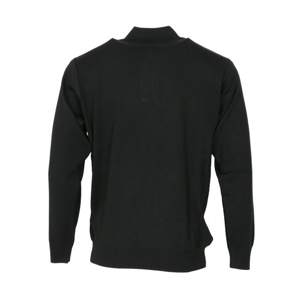 Unique 900 Ανδρική Πλεκτή Μπλούζα Με Φερμουάρ Μαύρο 4