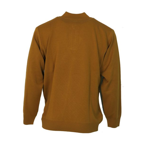 Unique 900 Ανδρική Πλεκτή Μπλούζα Με Φερμουάρ υάρ Κίτρινο 4