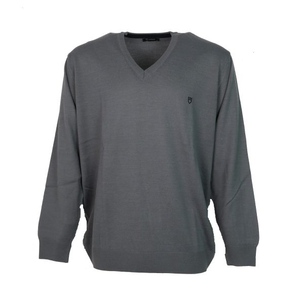 UNIQUE 230 490 Ανδρική Μπλούζα Με Βε πλεκτή Γκρί 3