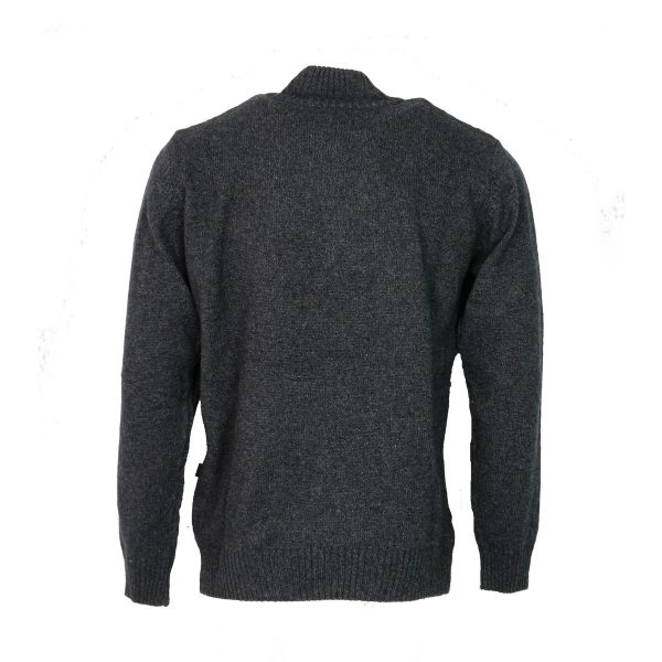 Machete 5925 Ανδρική Πλεκτή Μπλούζα Με Φερμουάρ Γκρί 4