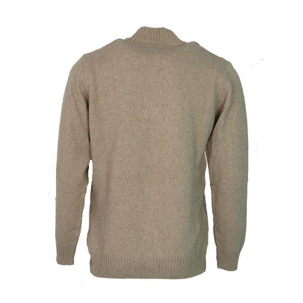 Machete 5925 Ανδρική Πλεκτή Μπλούζα με Φερμουάρ Mπέζ 4