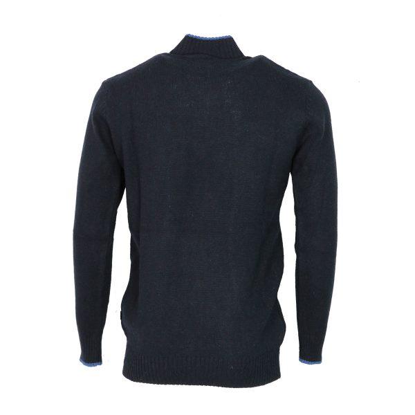 Machete 5428  Ανδρική Πλεκτή Μπλούζα Με Φερμουάρ Μπλέ 4