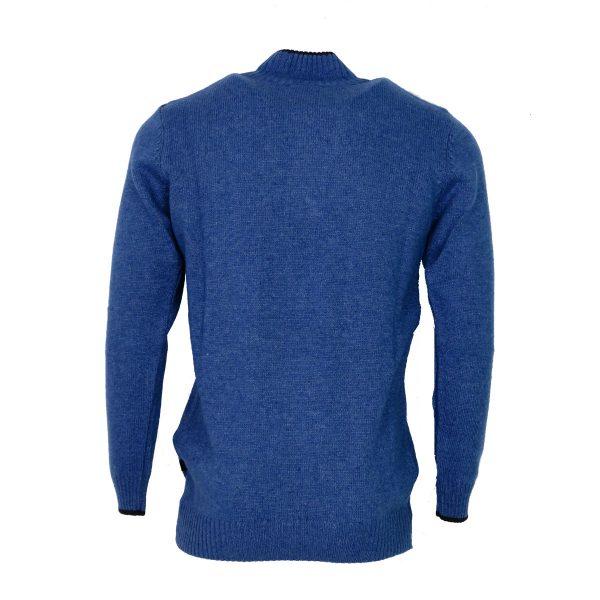 Machete 5428 Ανδρική Πλεκτή Μπλούζα Με Φερμουάρ Μπλέ Σιέλ 4