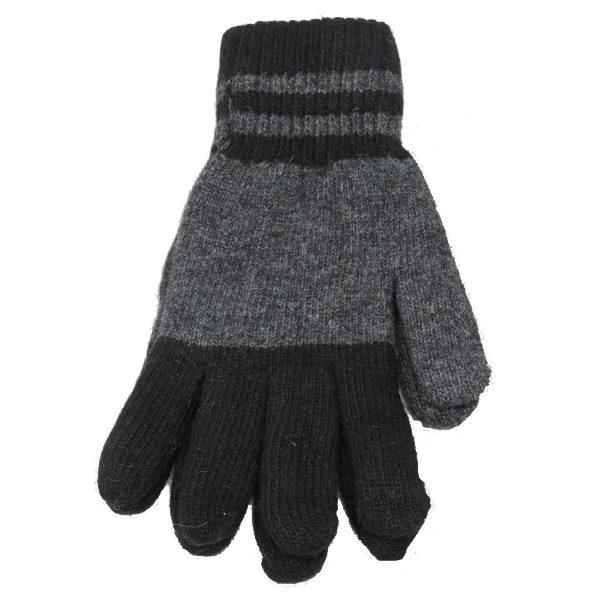Privato OY02-ST4-4 Ανδρικά Πλεκτά  Γάντια Μαύρα 3