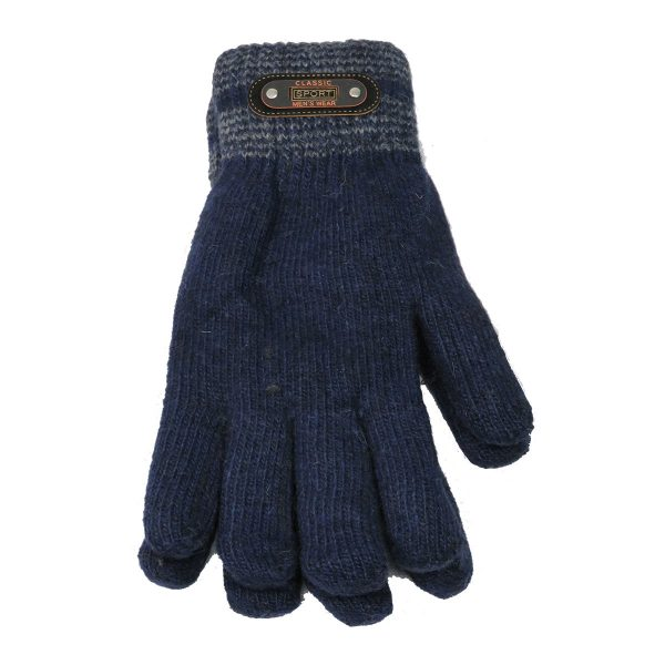 Privato OY02-ST4-3 Ανδρικά Πλεκτά Γάντια Μπλέ 3