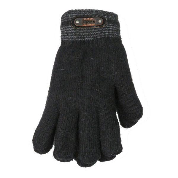 Privato OY02-ST4-3 Ανδρικά Πλεκτά Γάντια Μαύρο 3