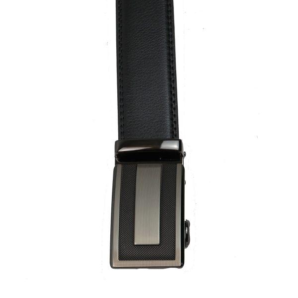 Privato  N523X Ανδρική Ζώνη Με πλάκα Τοκά Μαύρη 3