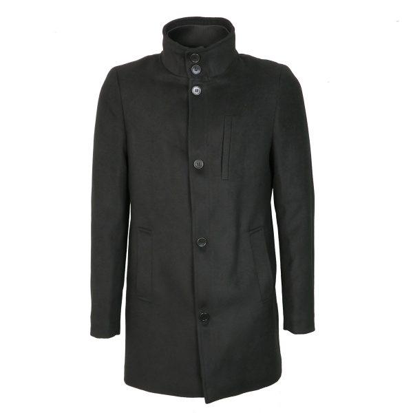 Endeson 005-1  Ανδρικό Παλτό Boss Μαύρο 6