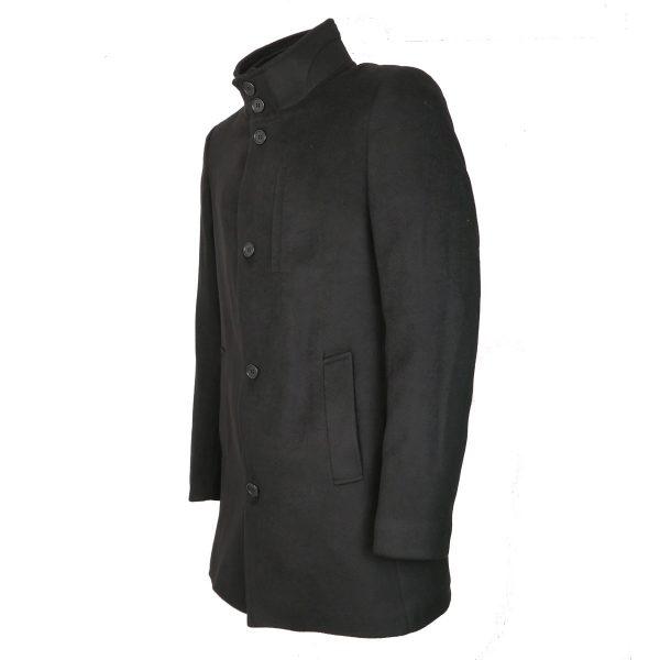 Endeson 005-1  Ανδρικό Παλτό Boss Μαύρο 4