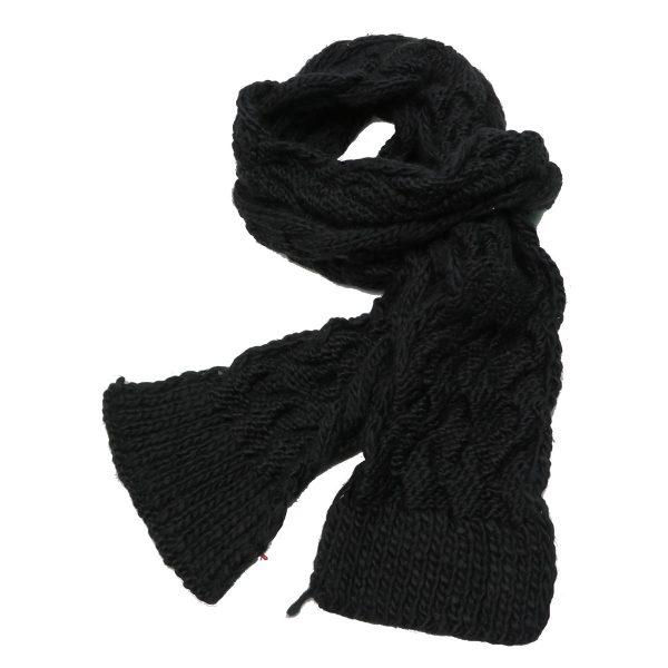 Biston 26-501-012 Ανδρικό Κασκόλ Μαύρο 3