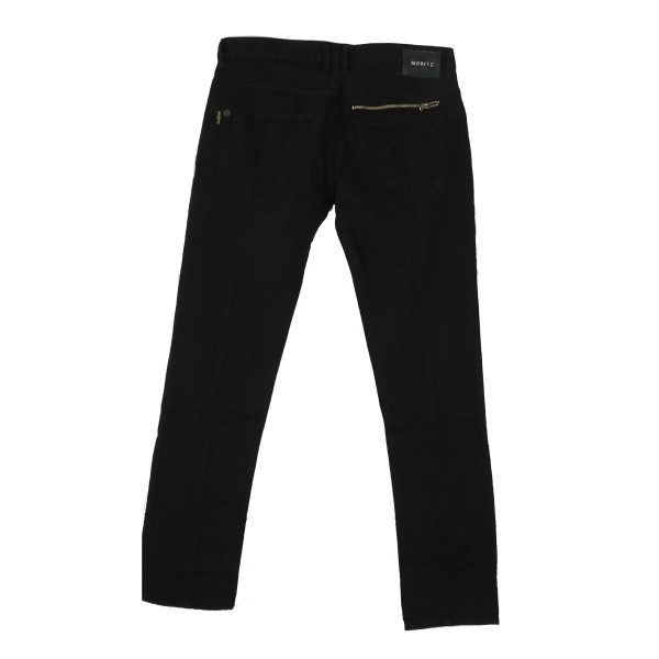 MORITZ TM714-JK Ανδρικό Παντελόνι τζίν Μαύρο 4