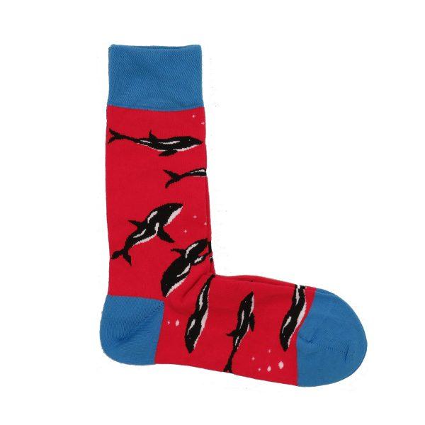 Privato K58 Unisex κάλτσα Κόκκινο 3