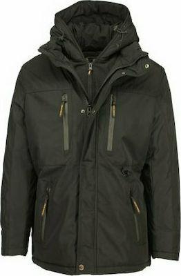 New York Tailors 022.18.ANONYMOUS Ανδρικό Μπουφάν Με Κουκούλα Μπλέ Σκούρο 3