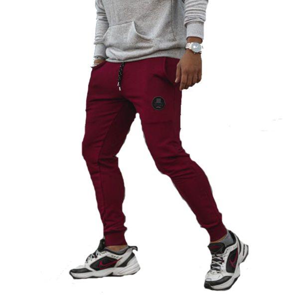 BODY MAX  7003 Ανδρικό Παντελόνι Φόρμας Φούτερ Μπορντό 3