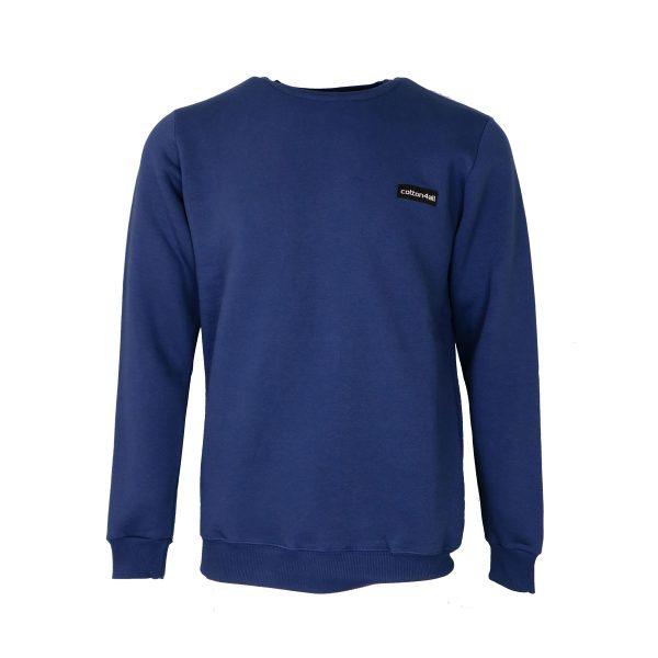 Cotton 4all 21-131 Ανδρικό Μπλουζάκι Φούτερ Μπλέ Ίντιγκο 3