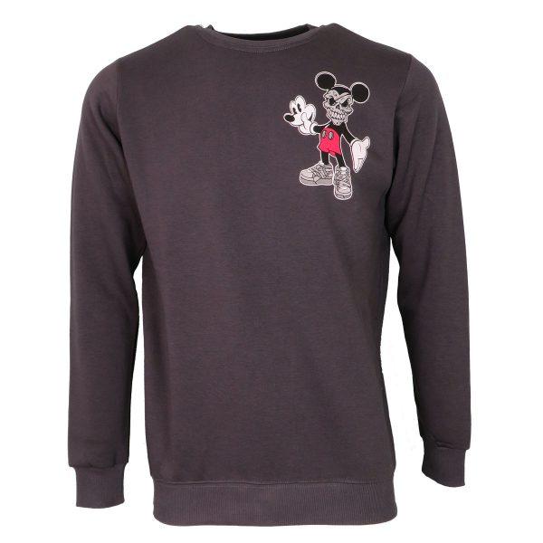 Cotton 4All 21-129 Ανδρικό Μπλουζάκι Φούτερ Γκρί 3