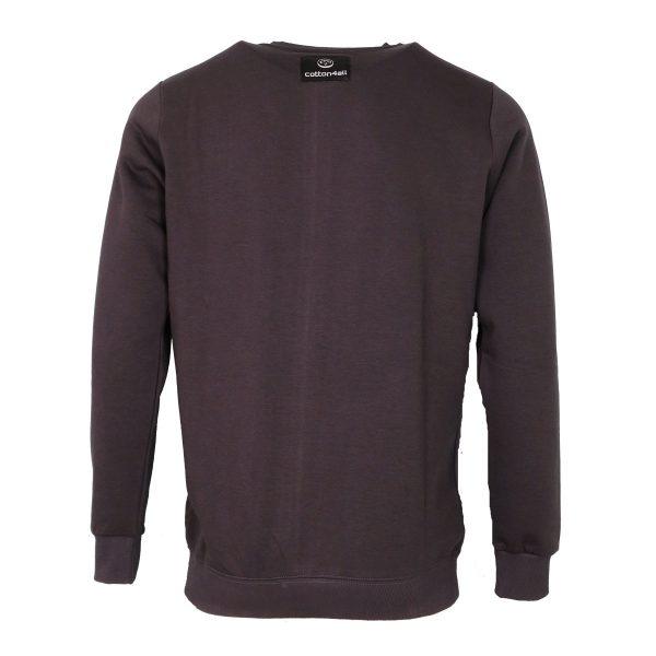 Cotton 4All 21-129 Ανδρικό Μπλουζάκι Φούτερ Γκρί 4
